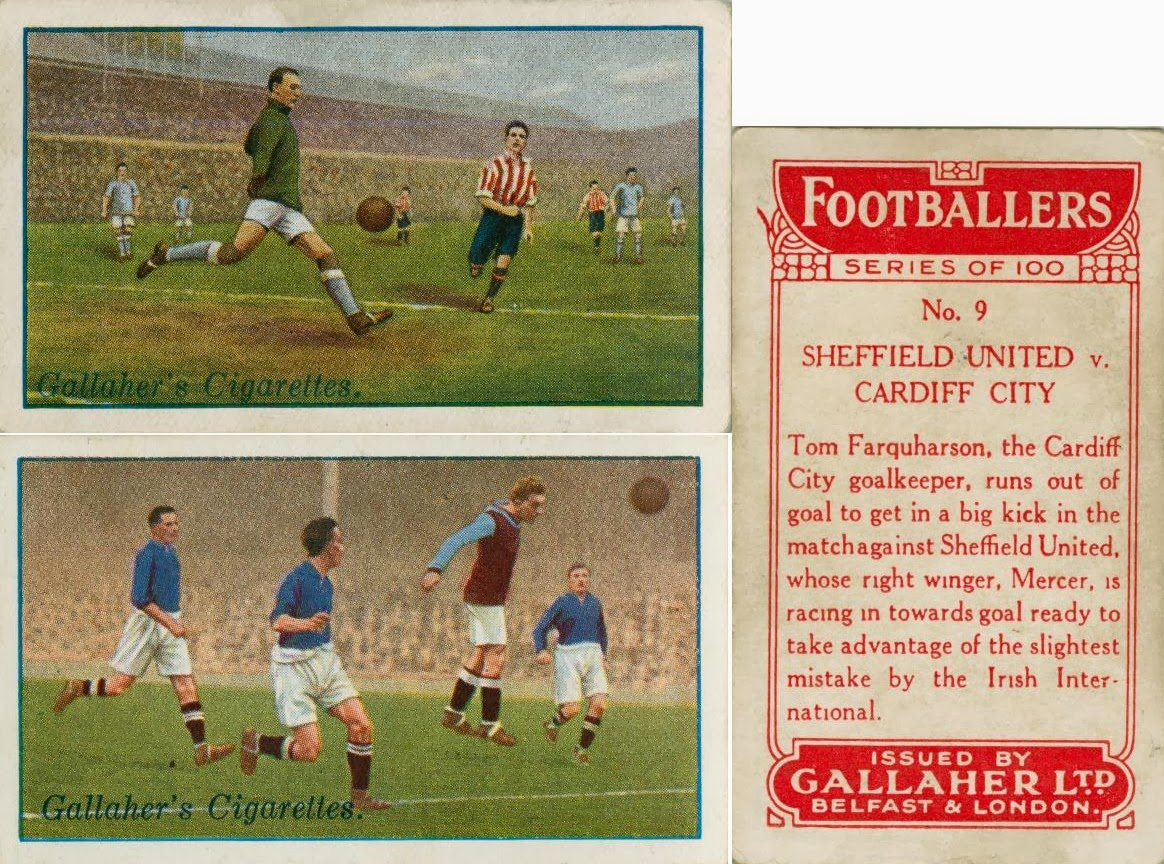 GALLAHER-FOOTBALL ERS IN ACTION-#15 ENGLAND SCOTLAND