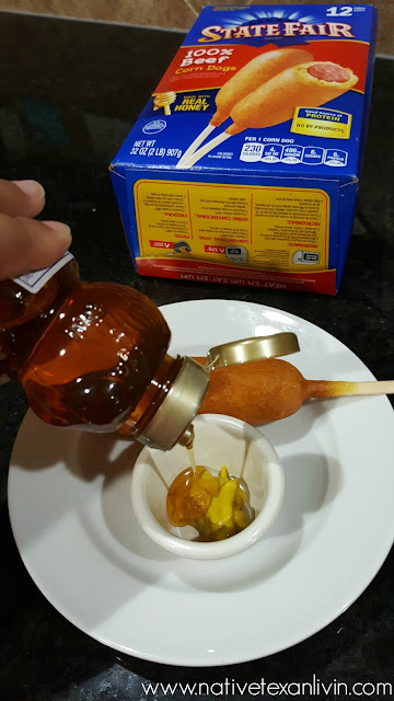State Fair® Corn Dogs at HEB with homemade Honey Mustard