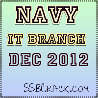 Indian Navy Executive Branch Notification Dec 2012