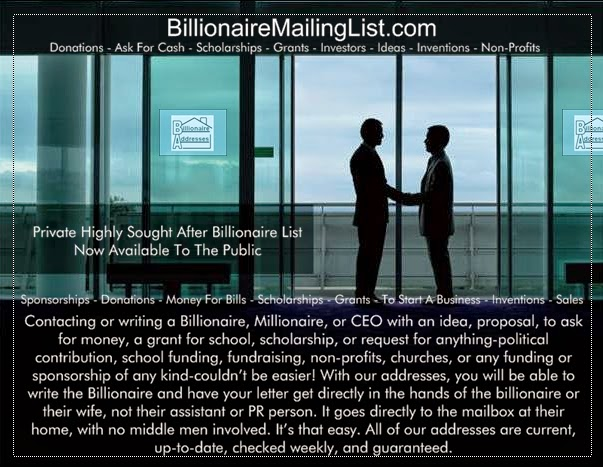 Exclusive Private Addresses of the Richest People In The World