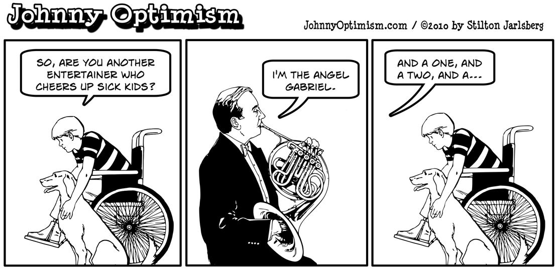 Johnny Optimism, johnnyoptimism, angel, gabriel, endtimes