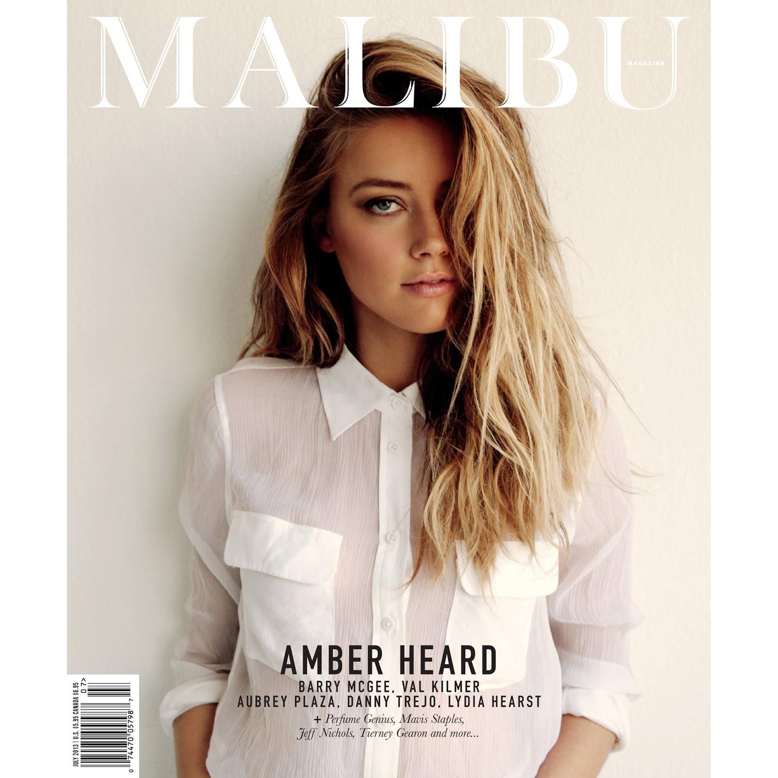 202d9569fa Retro Bikini: Amber Heard in the pages of Malibu Magazine for July ...