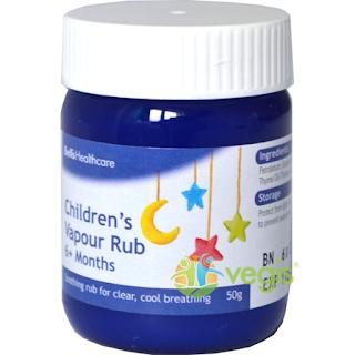 Vapour Rub -respiratie usoara bebelusi si copii