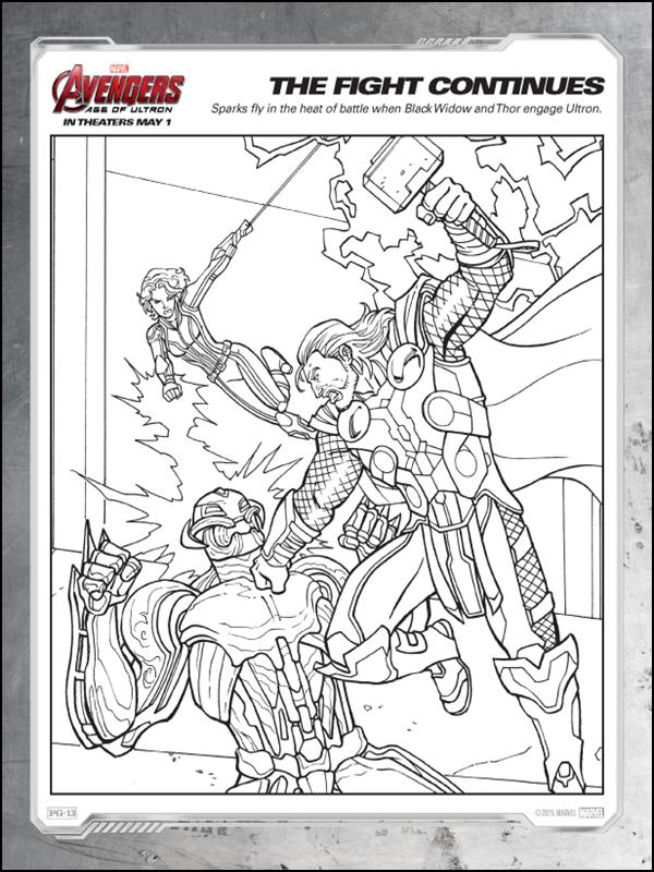 Desenhos Do The Avengers Age Of Ultron Para Colorir