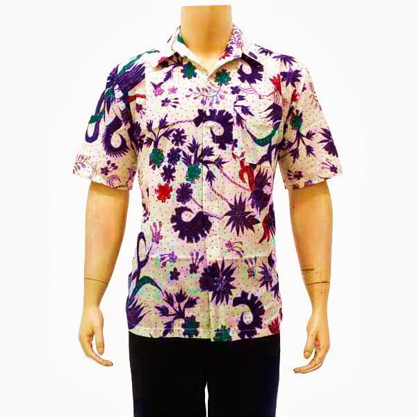 Batik Motif Bunga Pria: Kemeja Pria Motif Batik Solo KODE : BP 3479