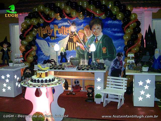 Decoração mesa de aniversário provençal Harry Potter - Mesa decorativa luxo