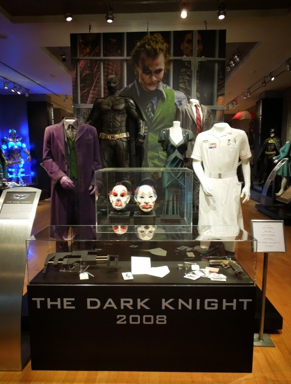 Dark Knight movie costume and prop exhibit