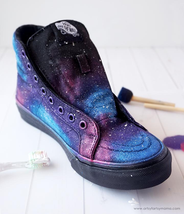 9ed47a53093f DIY Galaxy Shoes | artsy-fartsy mama