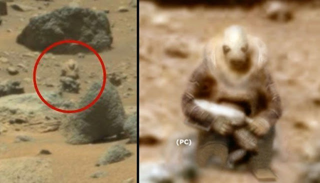 Alien Soldier Caught On Camera By Curiosity Rover On Mars