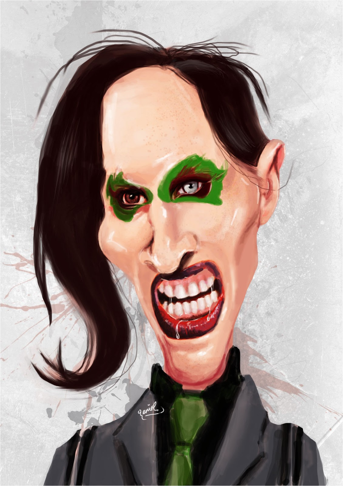 Digital Painting Marylin Manson Belajar Photoshop