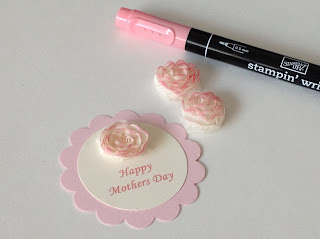 Stampin' Up! Punch Art Mothers Day Toppers