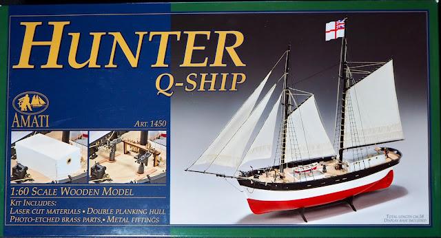 Unboxing QShip Hunter Amati Modellismo