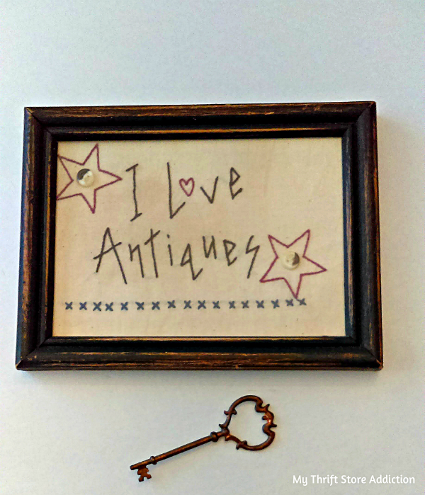 vintage embroidered Americana art