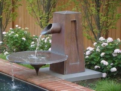 Model Air Mancur di Taman