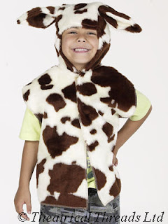 Cow Kids Nativity Play One Size tabard Costume from Theatrical Threads Ltd