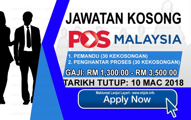 Jawatan Kerja Kosong Pos Malaysia Berhad logo www.ohjob.info mac 2018