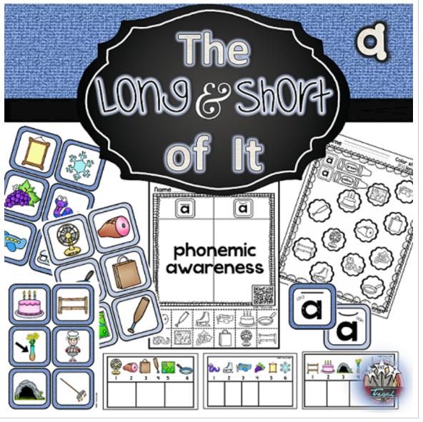 phonemic-awareness-centers-long-a-short-a