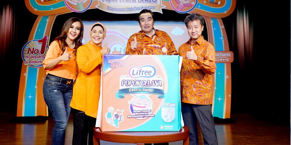 Popok orang dewasa Lifree produksi Unicharm Indonesia