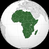 Le Chameau Bleu - Globe terrestre Afrique