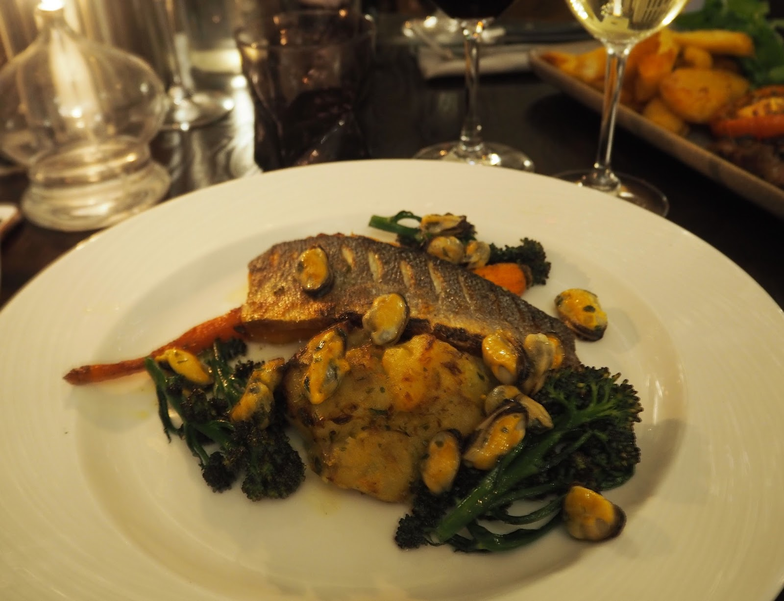 Prime restaurant, Stirk House, Gisburn, fish main course