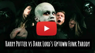 Watch Harry Potter parody of Uptown funk featuring Dark lord's funk in a dance battle between the good and evil via geniushowto.blogspot.com amazing music parody videos