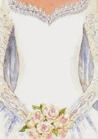 Vestido de Novia: Etiquetas para Imprimir Gratis.