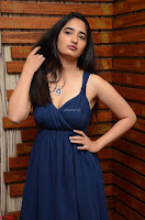 Radhika Mehrotra in a Deep neck Sleeveless Blue Dress at Mirchi Music Awards South 2017 ~  Exclusive Celebrities Galleries 063.jpg