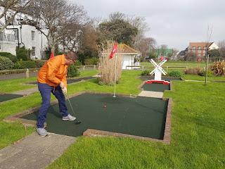 Splash Point Mini Golf in Denton Gardens, Worthing