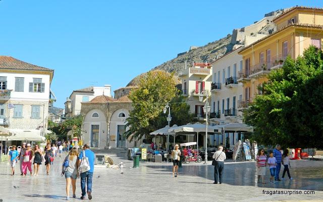 Plateya Syntagma, a Praça principal de Nafplio, Grécia