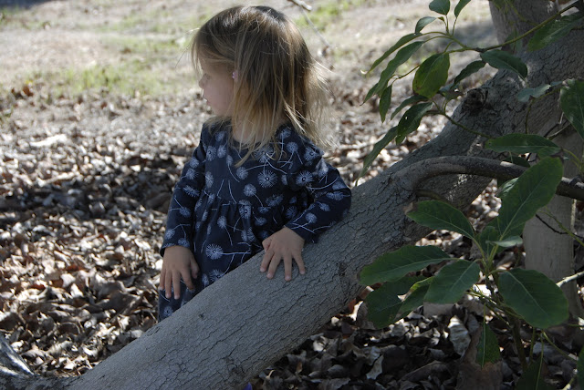 granddaughter resting on tree limb: LadyD Books