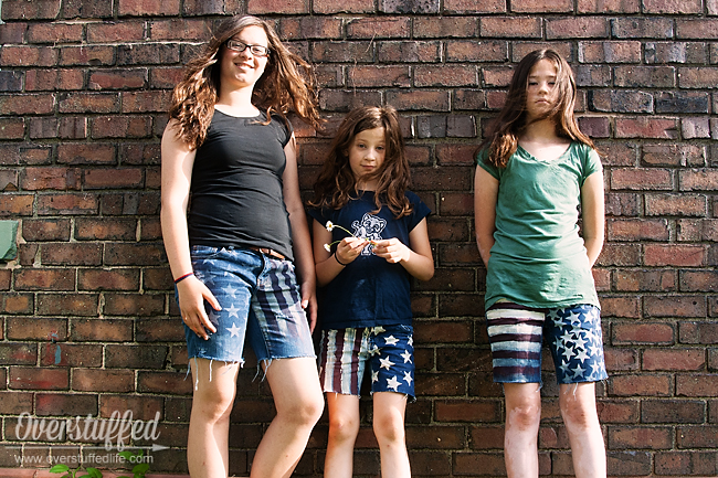 Easy DIY Patriotic Cutoff Shorts