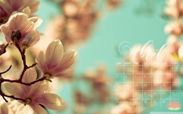 Calendario Abril de The White Curl