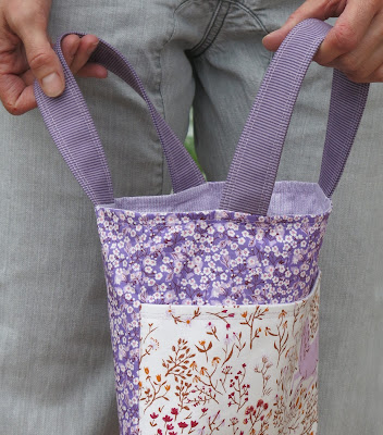 Mini tote bag - Top of the bag and handles