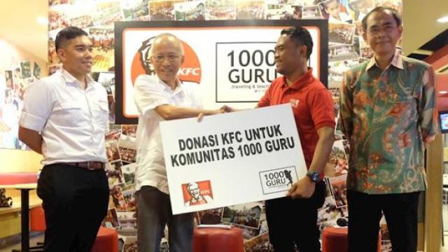 KFC Indonesia serta Komunitas 1000 Guru