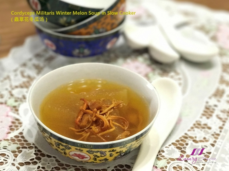 cordyceps militaris winter melon soup slow cooker