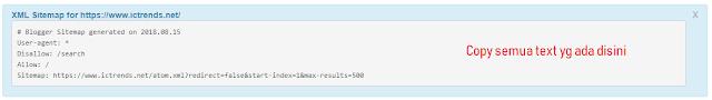 sitemap generator result