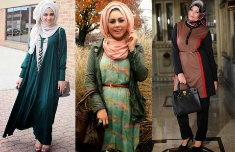 model baju muslim modis orang gemuk