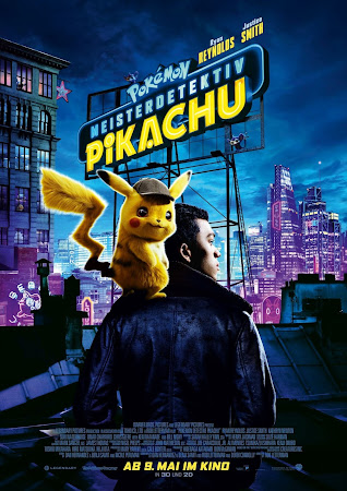 Poster Of Free Download Pokémon Detective Pikachu 2019 300MB Full Movie Hindi Dubbed 720P Bluray HD HEVC Small Size Pc Movie Only At worldfree4u.com