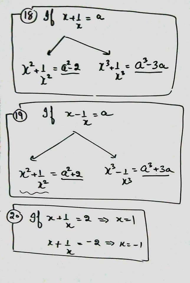 Mathematics Formula: बीजगणित में प्रयुक्त होने वाले प्रमुख
