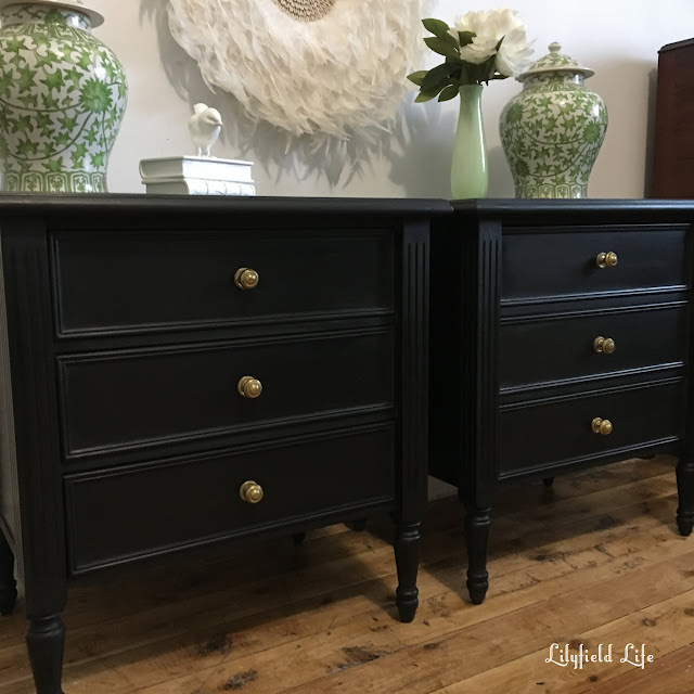 black vintage bedside tables - lilyfield Life