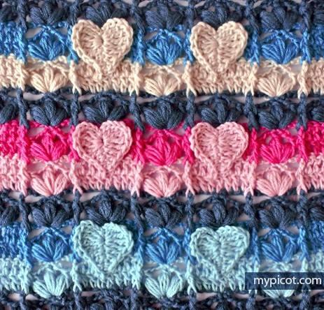 Punto Corazón a Crochet