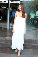 Bollywood Actress Shilpa Shetty Pos in White Gown at The Inauguration Of Shelar Make up Academy  0023.jpg