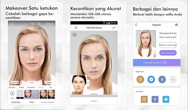 Aplikasi Mempercantik Wajah - Perfect365