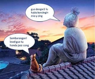 Gambar Lucu Kumpulan Gambar Lucu Pocong dan Kucing