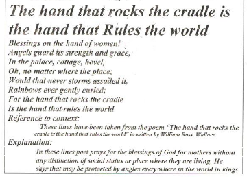 who said the hand that rocks the cradle