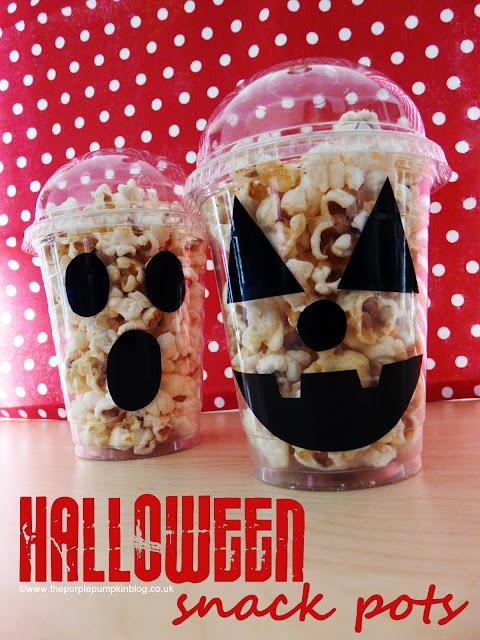 Halloween Snack Pots {Crafty October} at The Purple Pumpkin Blog