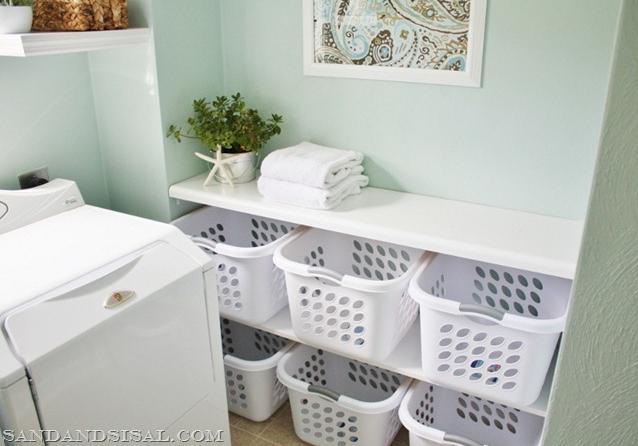 laundry basket organization station