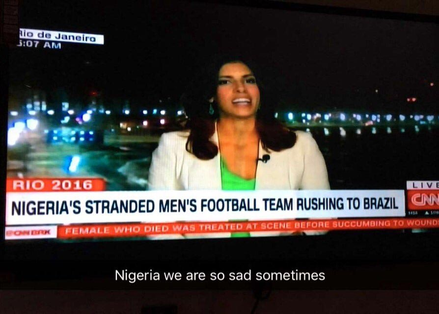 CNN features the story of Nigerian U-23 Olympic football team stranded in America