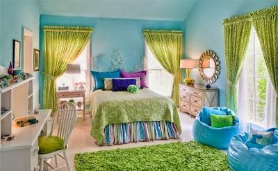 warna cat kamar tidur hijau terang 3