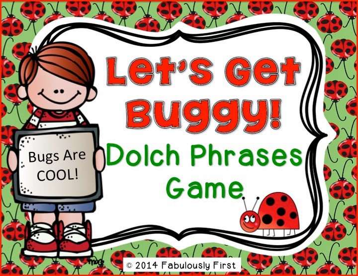 Lets Get Buggy Dolch Phrase Game